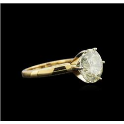 6.27 ctw Light Yellow Diamond Solitaire Ring - 18KT Yellow Gold