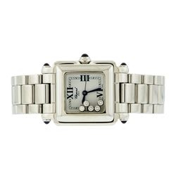 Chopard Stainless Steel Happy Sport Square Ladies Watch