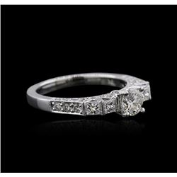 18KT White Gold 1.21 ctw Diamond Ring