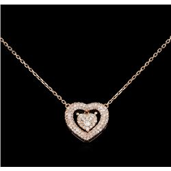 14KT Rose Gold 0.55 ctw Diamond Necklace