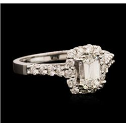 14KT White Gold EGL USA Certified 1.67 ctw Diamond Ring