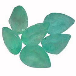 4.14 ctw Pear Mixed Emerald Parcel