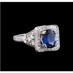 2.02 ctw Sapphire and Diamond Ring - Platinum
