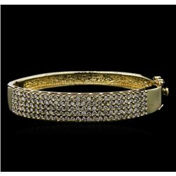 2.75 ctw Diamond Bangle Bracelet - 14KT Yellow Gold