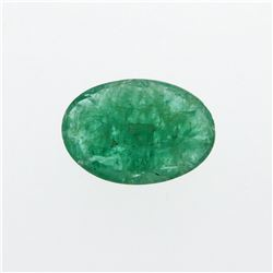 3.45 ct. One Oval Cut Natural Emerald