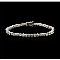 18KT White Gold 7.06 ctw Diamond Tennis Bracelet