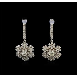 14KT White Gold 1.90 ctw Diamond Earrings