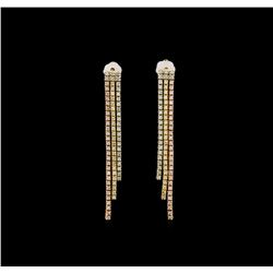14KT Tri-Color Gold 0.75 ctw Diamond Earrings
