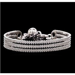1.27 ctw Diamond Bracelet - 14KT White Gold