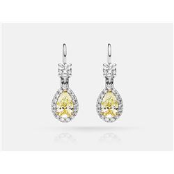 Diamond Earrings - 18KT Two-Tone Gold