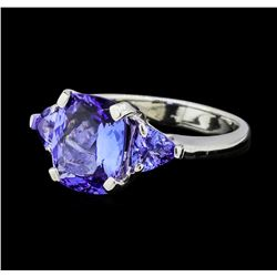 3.75 ctw Tanzanite Ring - Platinum