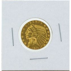 1911-S $5 Indian Head Gold Coin AU