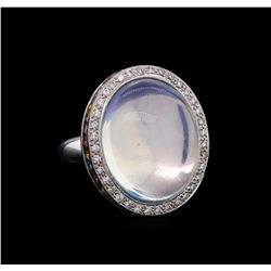 18KT White Gold 21.49 ctw Opal, Sapphire and Diamond Ring