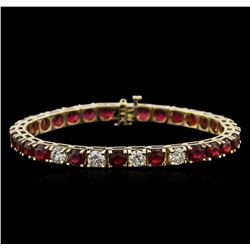 14KT Yellow Gold 19.00 ctw Ruby and Diamond Bracelet