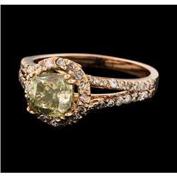 2.43 ctw Diamond Ring - 14KT Rose Gold
