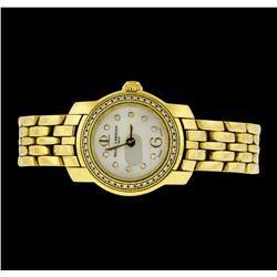Baume & Mercier 18KT Yellow Gold Diamond Ladies Watch