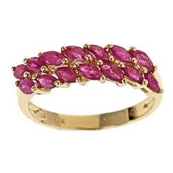 1.37 ctw Ruby Ring - 10KT Yellow Gold