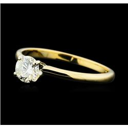 0.50 ctw Diamond Solitaire Ring - 14KT Yellow Gold