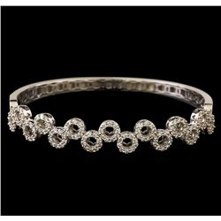 1.55 ctw Diamond Bangle Bracelet - 18KT White Gold