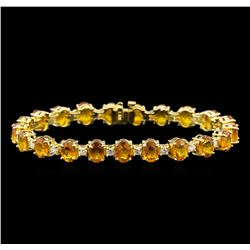 14KT Yellow Gold 21.40 ctw Yellow Sapphire and Diamond Bracelet