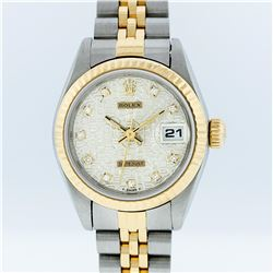 Rolex Two-Tone White Jubilee Diamond Dial DateJust Ladies Watch