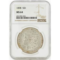 1898 MS64 NGC Morgan Silver Dollar