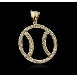 14KT Yellow Gold 1.07 ctw Diamond Pendant