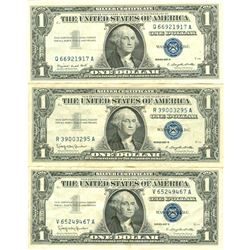 $1 XF/AV Silver Certificate Currency Lot of 3