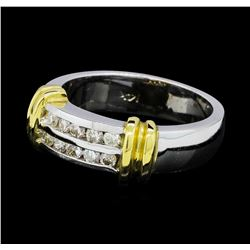 0.32 ctw Diamond Ring - 14KT White and Yellow Gold