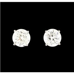 1.26 ctw Diamond Earrings - 14KT White Gold
