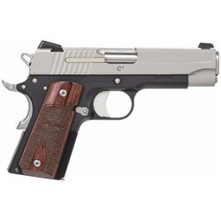 "Sig Sauer 1911CO45TC3 1911 C3 45ACP 4.25"" 7+1 Rosewood Grips Blk Frame SS Slide"