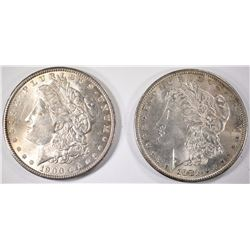 1881-S & 1900 CHOICE BU MORGAN SILVER DOLLARS