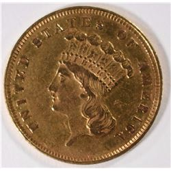 1859 $3 GOLD INDIAN PRINCESS HEAD CHOICE BU BEAUTIFUL COIN!