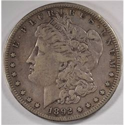 1892-S MORGAN SILVER DOLLAR XF