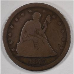 1875-S TWENTY CENT PIECE, GOOD+