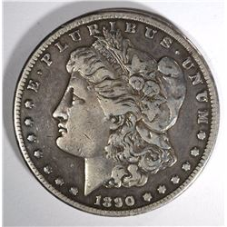 1890-CC MORGAN DOLLAR VF RIM BUMP