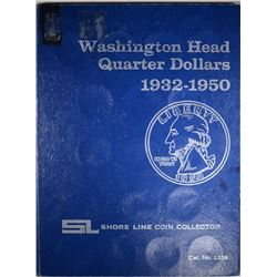 WASHINGTON QUARTER SET 1932-1950,  1932-D AG; 1932-S VG, MISSING 1939-D
