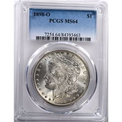 1898-O MORGAN DOLLAR PCGS MS-64