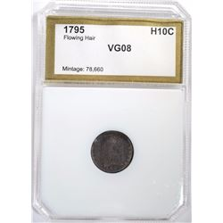 1795 FLOWING HAIR HALF DIME PCI VG