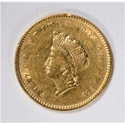 1854 TYPE 2 GOLD DOLLAR AU SCRATCH