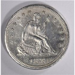 1876 SEATED LIBERTY QUARTER BU