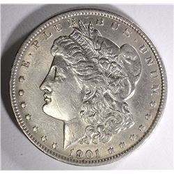 1901 MORGAN SILVER DOLLAR AU+  SEMI-KEY