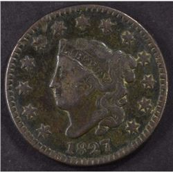 1827 LARGE CENT, FINE  BETTER DATE