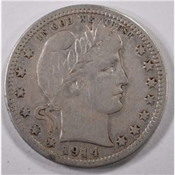 1914-S BARBER QUARTER FINE KEY DATE