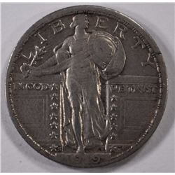 1919-S STANDING LIBERTY QUARTER, XF