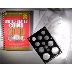 2016 U.S. COIN RED BOOK NEVER USED & 6 - CAPITOL HOLDERS for GOLD COINS