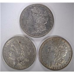 1880, 1883, 1887 MORGAN SILVER DOLLARS - CIRCS