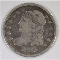 1834 CAPPED BUST HALF DIME, VG