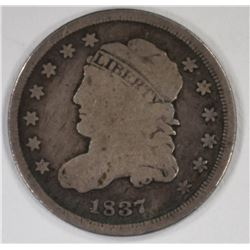 1837 CAPPED BUST HALF DIME, FINE