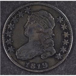 1819 BUST QUARTER XF SHARPLY STRUCK
